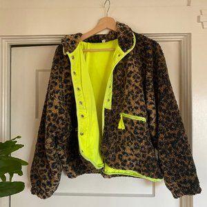 Free People Leopard Jacket